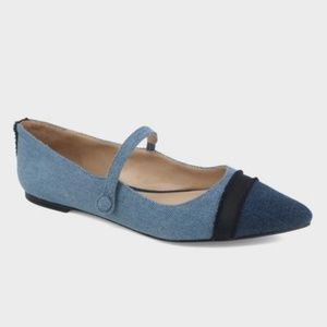 Who What Wear Denim Pointed Flats, Size 9 - NWT